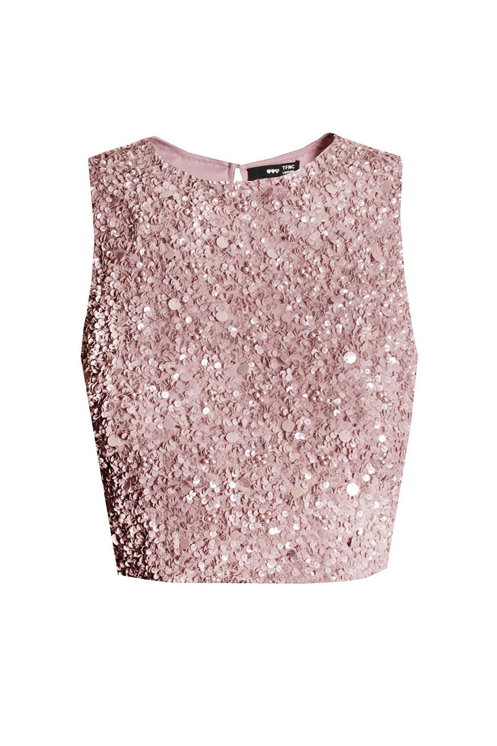 Lace Amp Beads Picasso Pink Sequin Top Lace Amp Beads Top